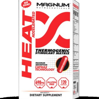 Harga MAGNUM HEAT ACCELERATED THERMOGENIC FAT BURNER, 120 CAPS