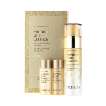 Harga Tonymoly Timeless Ferment Snail Essence 50ml Special Set(Lotion 20ml + Toner 20ml)/Whitening/Anti-Wrinkle/100% Authentic Korea Cosmetic - Intl