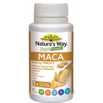 Harga Nature's Way Superfoods Maca 500mg 60 Tablets