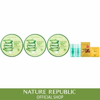 Harga Nature Republic Soothing & Moisture Aloe Vera 92% Soothing Gel (X3)