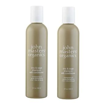 Harga 2 x John Masters Organics Zinc & Sage Shampoo with Conditioner 8oz, 236ml - intl