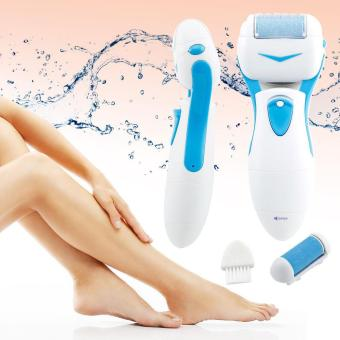Harga leegoal Pro Pedicure Kit Pedi Foot File Hard Dead Skin Electrical Care Callus Remover, Blue - intl
