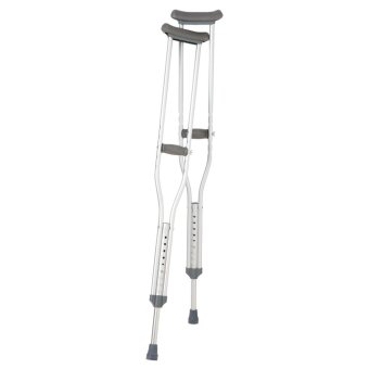 Harga Aluminium Light Weight Adjustable Under Arm Crutches Support For Injury Support Mobility- Small