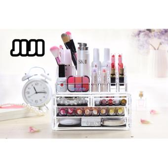 Harga JIJI MKT-06/ Transparent Makeup Table Organizers ★Acrylic ★Table Organizers ★Drawers ★Storage ★Compartment ★Cabinets