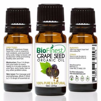 Harga Biofinest Grapeseed Organic Oil (100% Pure Organic Carrier Oil) 10ml
