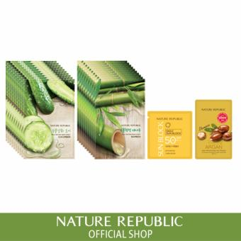 Harga Nature Republic Real Nature Mask Sheet X 20 (Cucumber 10Ea + Bamboo 10Ea)