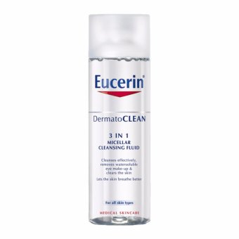 Harga Eucerin Face Care Unisex Basic DermatoCLEAN 3-in-1 Micellar Cleansing Fluid 200ml