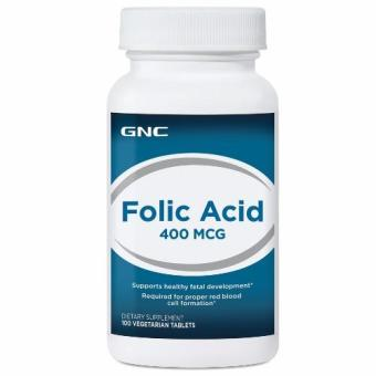 Harga GNC Folic Acid 400 (100 Tablets)