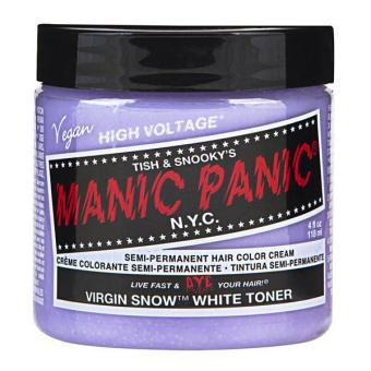 Harga [MANIC PANIC] VIRGIN SNOW / SEMI-PERMANENT HAIR COLOR CREAM / HAIR DYE - intl