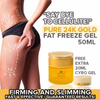 Harga 24K PURE GOLD CRYO FAT FREEZE GEL | 999.9 PURE GOLD | Anti-Cellulite [PGFFG001]