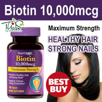 Harga Biotin 10,000mcg Maximum Strength 100 Tablets