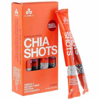 Harga TheChiaCo 100% Australian Grown Chia Seed Black and White Shots 8g x 10 Packs
