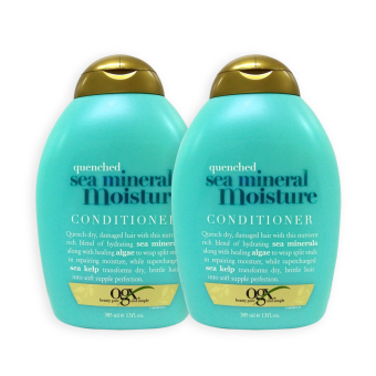 OGX Organix Quenched Sea Mineral Moisture Conditioner 385ml x 2 bottles ( 6921 )
