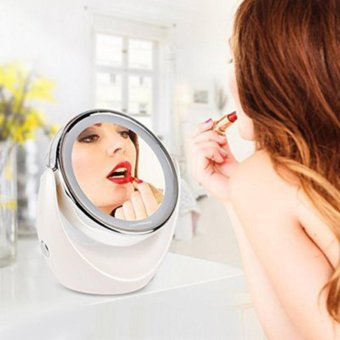 Abusun Makeup Mirror 5X Magnifying Double side for Cosmetic & Skin Care, Polished Chrome - intl - 4