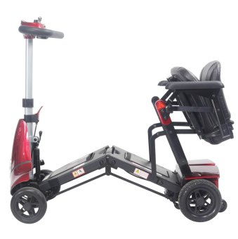 """Solax Mobie """"S"""" Foldable Mobility Scooter (Red) - 3"""