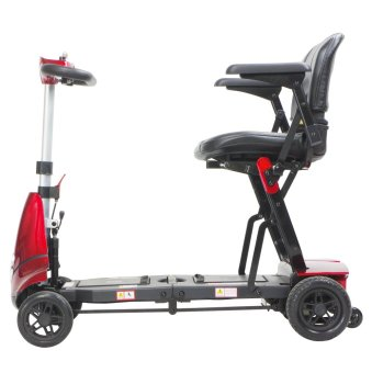 """Solax Mobie """"S"""" Foldable Mobility Scooter (Red) - 2"""