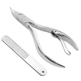 Harga Stainless Steel Toenail Nails Beauty Clippers Trimmer Clamp Cuticle Nipper Cutters with Nail File for Thick Dry Ingrown Nails Nail Care Tool Universal Style - intl