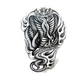 Harga Black Mamba Large Snake Arm Tattoo Temporary Waterproof Sticker Vivid Style - intl