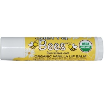 Sierra Bees, Organic Creme Brulee Beeswax Lip Balm, pack of 1