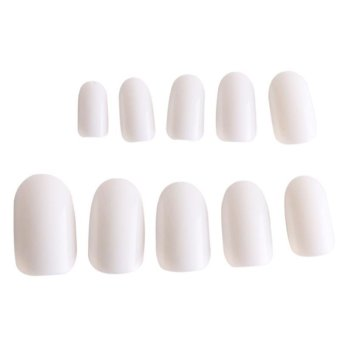 Harga LALANG 600Pcs Nail Art Fake Full Cover Artificial Nail Tips Acrylic Gel False Nails (White)