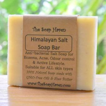 Harga The Soap Haven Himalayan Salt Soap (Naturally Anti-bacterial for Eczema, Acne, Odor-Control