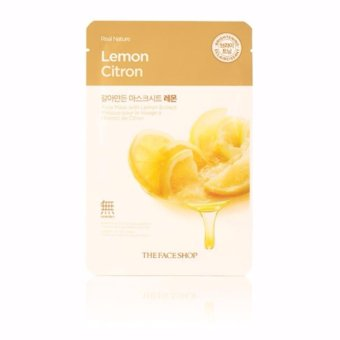 Harga The Face Shop Real Nature Face Mask (Lemon) 1 Piece