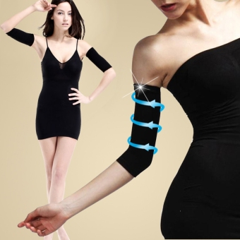 Thin Arms Forearms Hands Shaper Burn Fat Belt Compression Arm Slimming Warmer 420 D (Black)