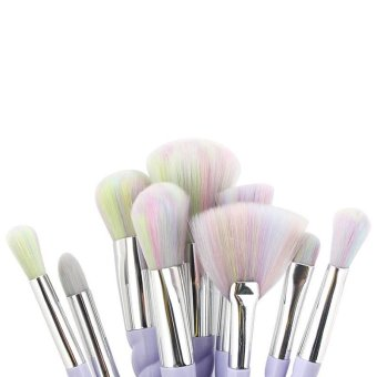 niceEshop Unicorn Thread Professsional 10pcs Makeup Cosmetic Brushes Set .