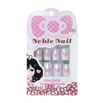 Harga 12pcs nails tips pre design False Nails Tips Fake Nail Art Tips With Free Glue