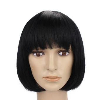 Harga Women Synthetic Bobo Short Straight Hair Wigs with Bang - intl