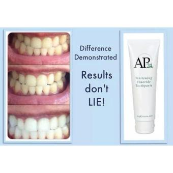 AP24 Whitening Fluoride Toothpaste - 110g - Peroxide Free - Plaque Free - Stain Free - Brightens Whitens and Protects Teeth - Vanilla Mint Flavor - Advanced Oral Health Care - 4