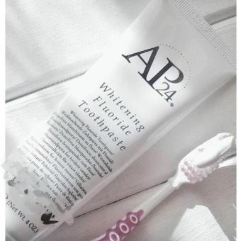 AP24 Whitening Fluoride Toothpaste - 110g - Peroxide Free - Plaque Free - Stain Free - Brightens Whitens and Protects Teeth - Vanilla Mint Flavor - Advanced Oral Health Care - 2