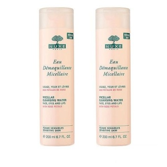 2 x NUXE Micellar Cleansing Water with Rose Petals (Sensitive Skin) 6.7oz, 200ml - intl