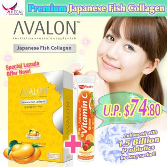 Harga AVALON Japanese Fish Collagen Mango + VitaRealm Natural Vitamin C+Zinc+Lutein