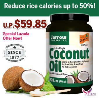 Harga Jarrow Formulas Extra Virgin Organic Coconut Oil 946ml USDA Certified Organic Quality Assured!