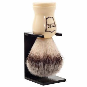 Parker Ivory Handle Synthetic Bristle Shaving Brush with Brush Stand - 2