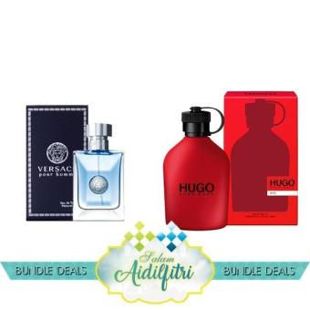 Harga Versace Pour Homme EDT Men (100ml) & Hugo Boss Red EDT Men (125ml)