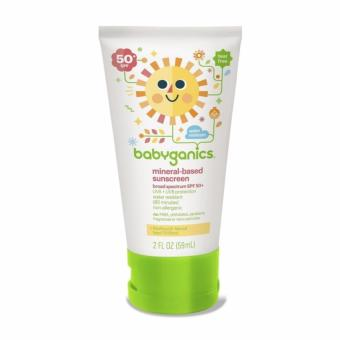 Harga Babyganics Mineral-Based Baby Sunscreen Lotion, SPF 50, 2 oz/59 ml Tube