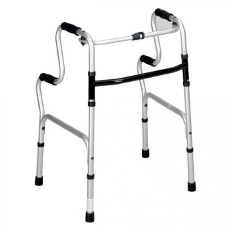 Harga Aluminium Lightweight High Rise Foldable Adjustable Height Walking Frame Standing Support