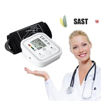 SAST Automatic Digital LCD Arm Blood Pressure Monitor LCD Heart Beat Home Sphgmomanometer(White) - intl