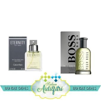 Harga Calvin Klein cK Eternity EDT Men (100ml) & Hugo Boss No. 6 EDT Men (100ml)
