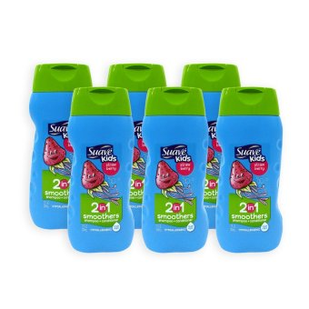 Harga Suave Kids Strawberry 2 in 1 Smoothers Shampoo + Conditioner 355ml x 6 Bottles - 1109