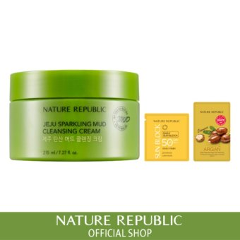 Harga Nature Republic Jeju Sparkling Mud Cleansing Cream