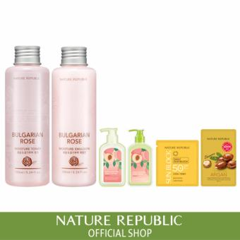 Harga Nature Republic Bulgarian Rose Moisture Toner & Emulsion