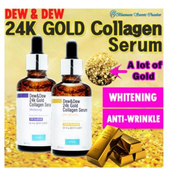 Harga Korea DEW & DEW 24K Gold Collagen Serum 50ml