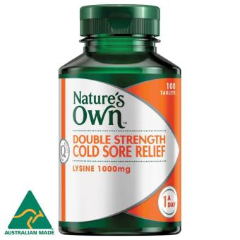 Harga Nature's Own Double Strength Cold Sore Relief / 100 Tablets / L-Lysine 1000 mg