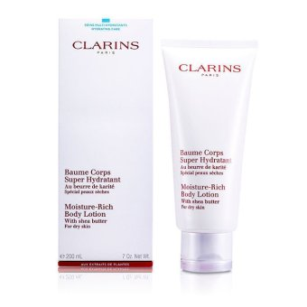 Clarins Moisture Rich Body Lotion with Shea Butter (Dry Skin) 200ml/7oz (EXPORT)