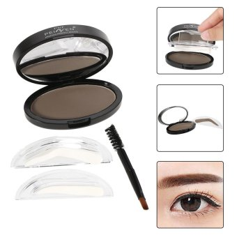 Harga PNF Brow Stamp Powder Eye Brow Straight United Enhancer With 2 Pairs Brow Stamps Brush Mirror 3# Light Brown - intl