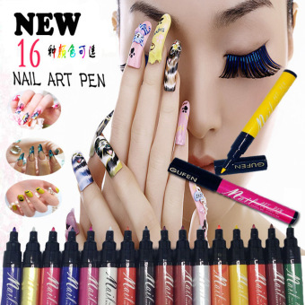 Harga La Vie Nail Art Pen 3D DIY Nail Polish Pen Paint Pen #4(Purple)