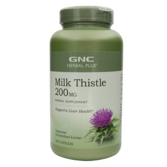 Harga GNC Herbal Plus Standardized Milk Thistle 200's